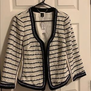 Women's Striped tweed jacket